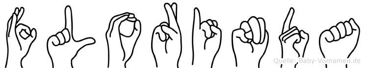 Florinda im Fingeralphabet der Deutschen Gebärdensprache
