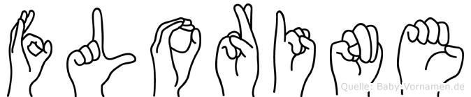 Florine im Fingeralphabet der Deutschen Gebärdensprache