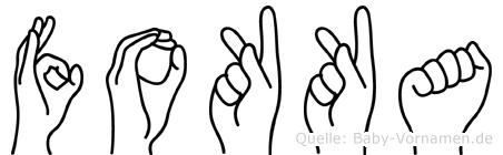 Fokka im Fingeralphabet der Deutschen Gebärdensprache
