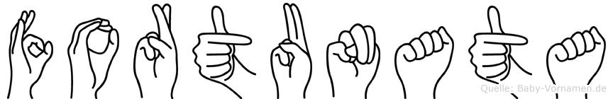 Fortunata im Fingeralphabet der Deutschen Gebärdensprache
