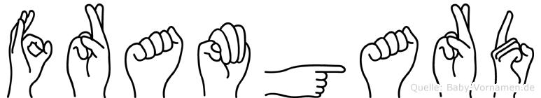 Framgard im Fingeralphabet der Deutschen Gebärdensprache
