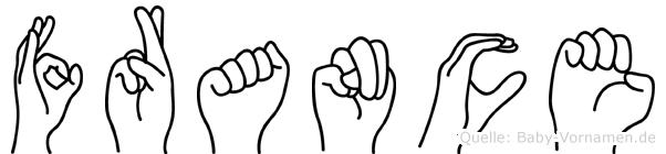 France in Fingersprache für Gehörlose