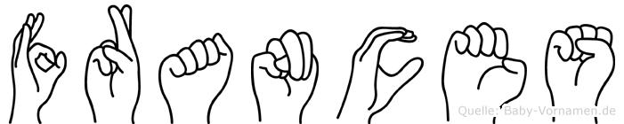 Frances in Fingersprache für Gehörlose