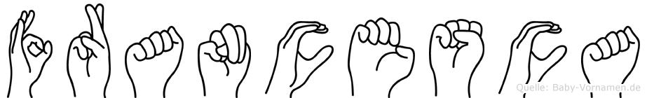 Francesca im Fingeralphabet der Deutschen Gebärdensprache