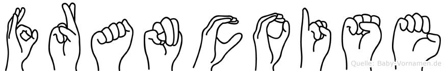 Francoise in Fingersprache für Gehörlose