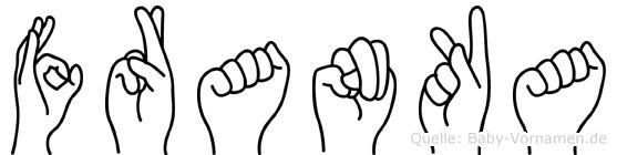 Franka im Fingeralphabet der Deutschen Gebärdensprache