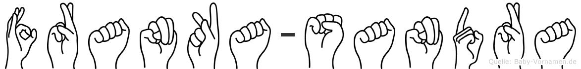 Franka-Sandra im Fingeralphabet der Deutschen Gebärdensprache