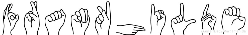 Frankhilde im Fingeralphabet der Deutschen Gebärdensprache