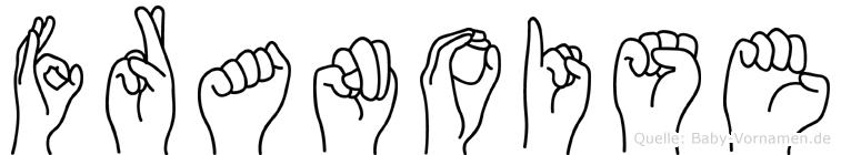 Franoise im Fingeralphabet der Deutschen Gebärdensprache