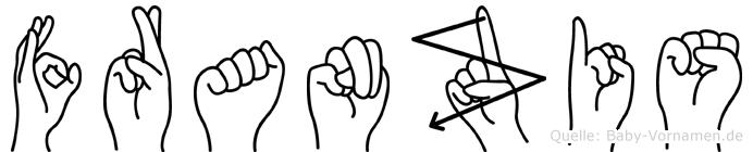Franzis im Fingeralphabet der Deutschen Gebärdensprache