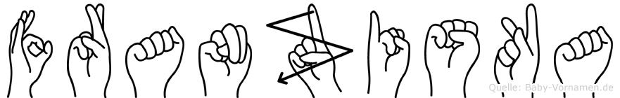 Franziska in Fingersprache für Gehörlose