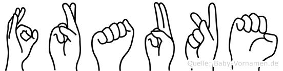 Frauke in Fingersprache für Gehörlose