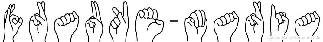 Frauke-Maria im Fingeralphabet der Deutschen Gebärdensprache