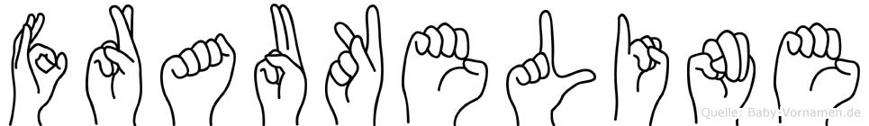 Fraukeline in Fingersprache für Gehörlose