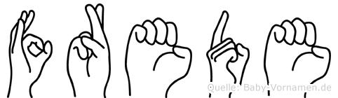 Frede im Fingeralphabet der Deutschen Gebärdensprache