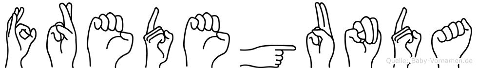 Fredegunda in Fingersprache für Gehörlose