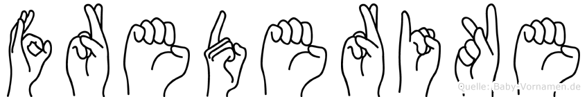 Frederike in Fingersprache für Gehörlose