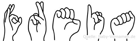 Freia in Fingersprache für Gehörlose