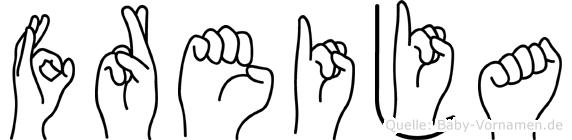 Freija in Fingersprache für Gehörlose