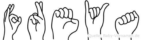 Freya in Fingersprache für Gehörlose