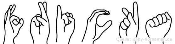 Fricka in Fingersprache für Gehörlose