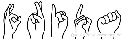 Frida in Fingersprache für Gehörlose