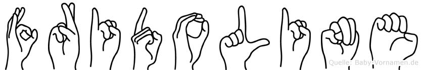 Fridoline im Fingeralphabet der Deutschen Gebärdensprache