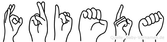 Frieda in Fingersprache für Gehörlose