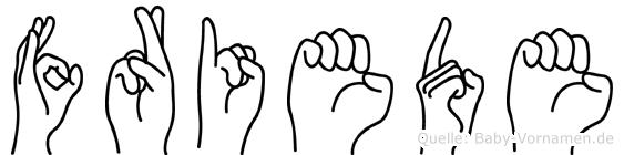 Friede in Fingersprache für Gehörlose