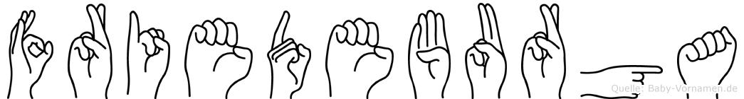 Friedeburga im Fingeralphabet der Deutschen Gebärdensprache