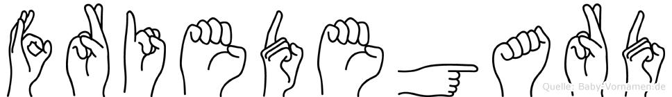 Friedegard im Fingeralphabet der Deutschen Gebärdensprache