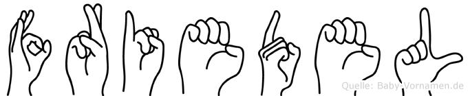 Friedel im Fingeralphabet der Deutschen Gebärdensprache