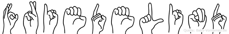 Friedelind im Fingeralphabet der Deutschen Gebärdensprache