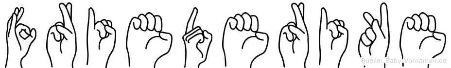 Friederike im Fingeralphabet der Deutschen Gebärdensprache