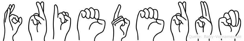 Friederun im Fingeralphabet der Deutschen Gebärdensprache