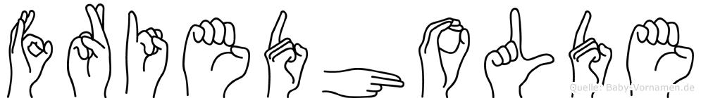 Friedholde in Fingersprache für Gehörlose