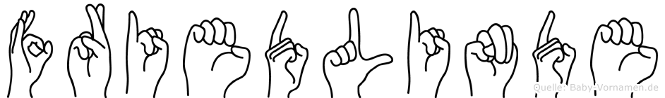Friedlinde im Fingeralphabet der Deutschen Gebärdensprache