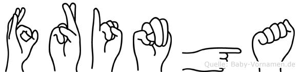 Fringa in Fingersprache für Gehörlose