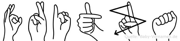 Fritza im Fingeralphabet der Deutschen Gebärdensprache