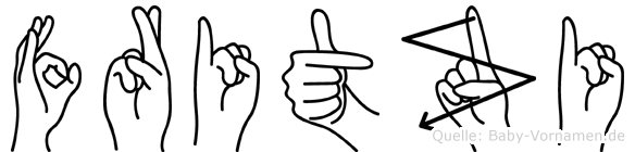 Fritzi in Fingersprache für Gehörlose