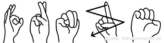 Fränze im Fingeralphabet der Deutschen Gebärdensprache