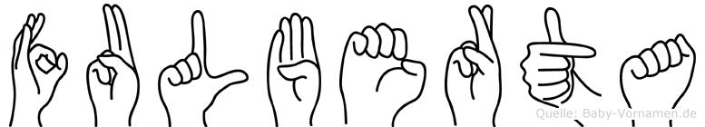 Fulberta in Fingersprache für Gehörlose