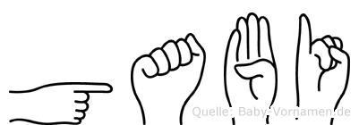Gabi in Fingersprache für Gehörlose