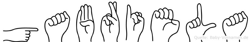 Gabriela im Fingeralphabet der Deutschen Gebärdensprache
