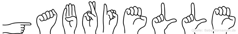 Gabrielle im Fingeralphabet der Deutschen Gebärdensprache