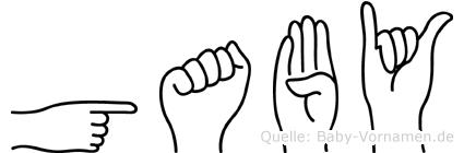 Gaby in Fingersprache für Gehörlose