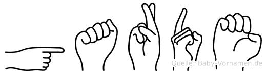 Garde im Fingeralphabet der Deutschen Gebärdensprache