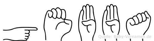 Gebba in Fingersprache für Gehörlose