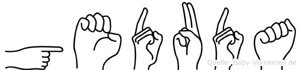 Geduda in Fingersprache für Gehörlose
