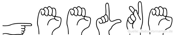 Geelke im Fingeralphabet der Deutschen Gebärdensprache